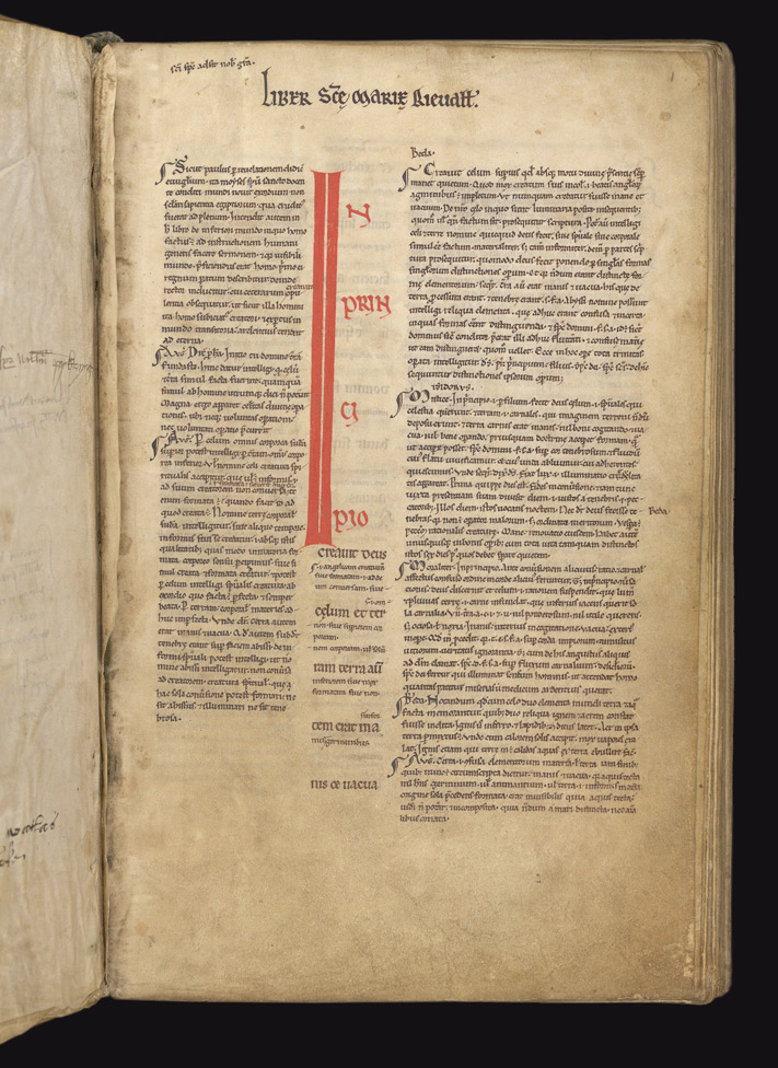Genesis 1 and Bede's Commentary, in a Glossed Genesis